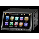"7"" 2DIN Car DVD Player с подвижен дисплей, GPS, TV и Bluetooth"